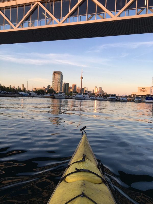 Kayaking at Ontario Place