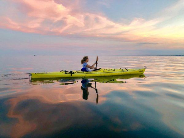 Kayaker in the Toronto inner harbour