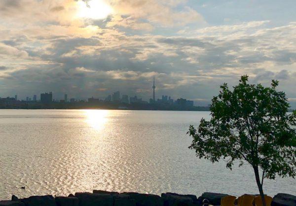 Toronto skyline from the Etobicoke footbridge